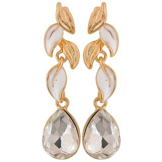 Maayra Suave White Gold Kundan Get-Together Drop Earrings
