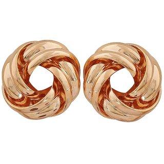 Maayra Simple Gold Designer Party Stud Earrings