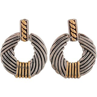 Maayra Darling Gold Silver Designer College Drop Earrings