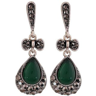 Maayra Sensual Green Designer Cocktail Drop Earrings