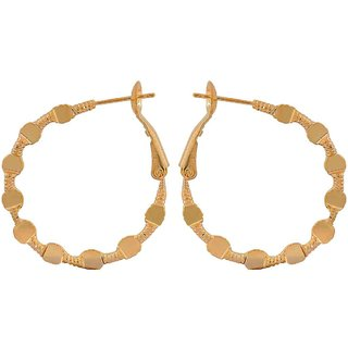 Maayra Sizzling Gold Designer Get-Together Hoop Earrings