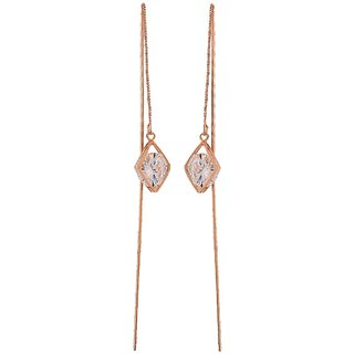Maayra Smart Bronze Stone Crystals Cocktail Tassel Earrings