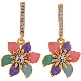 Maayra Great Multicolour Designer College Drop Earrings