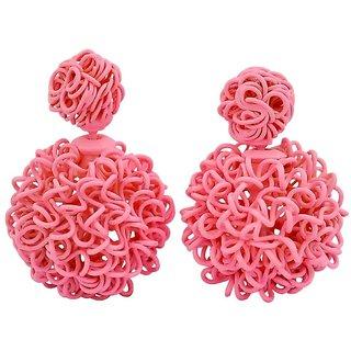 Maayra Trendy Pink Designer Party Stud Earrings