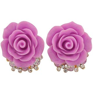 Maayra Special Purple Designer College Stud Earrings