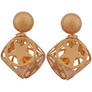 Maayra Lovable Bronze Designer Cocktail Stud Earrings