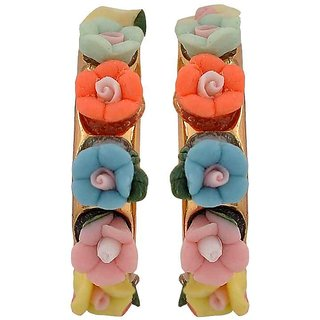 Maayra Lively Multicolour Designer Party Drop Earrings