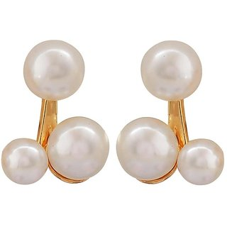 Maayra Classy White Pearl Get-Together Drop Earrings