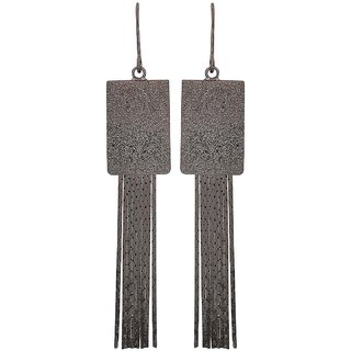 Maayra Beautiful Grey Designer Party Dangler Earrings