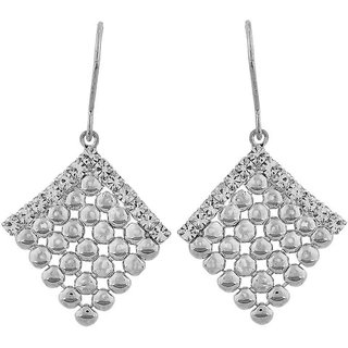 Maayra Exquisite Silver Designer Get-Together Dangler Earrings