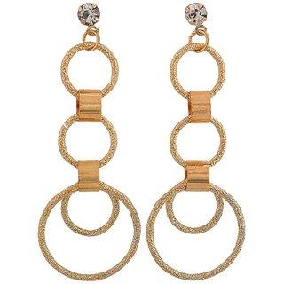 Maayra Posh Gold Designer College Drop Earrings