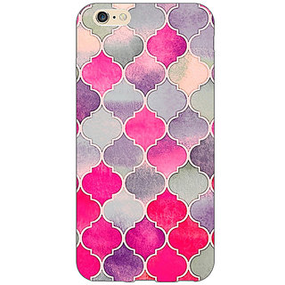 Jugaaduu Pink Grey Moroccan Tiles Pattern Back Cover Case For Apple iPhone 6S Plus - J1090293