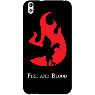 Jugaaduu Game Of Thrones GOT House Targaryen  Back Cover Case For HTC Desire 816G - J1070143