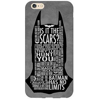 Jugaaduu Superheroes Batman Dark knight Back Cover Case For Apple iPhone 6S Plus - J1090001