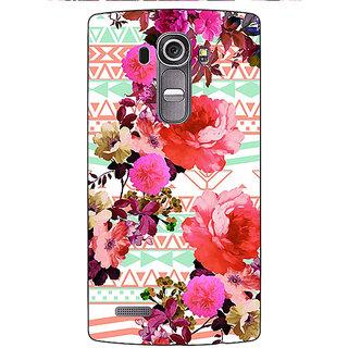 Jugaaduu Floral Pattern  Back Cover Case For LG G4 - J1100676