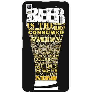 Jugaaduu Beer Quote Back Cover Case For Lenovo K3 Note - J1121227