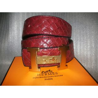Formals Or Semi-Formals Brown Colour Self Design Leather Belt With Golden Buckle