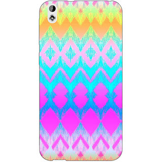 Jugaaduu Psychdelic Triangles Pattern Back Cover Case For HTC Desire 816G - J1070248