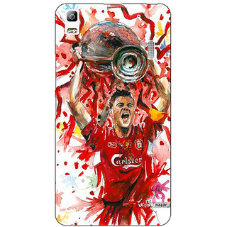 Jugaaduu Liverpool Gerrard Back Cover Case For Lenovo K3 Note - J1120550