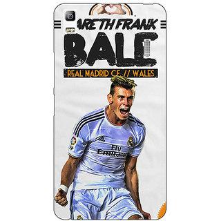 Jugaaduu Real Madrid Bale Back Cover Case For Lenovo K3 Note - J1120585