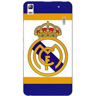 Jugaaduu Real Madrid Back Cover Case For Lenovo K3 Note - J1120594