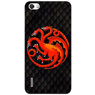 Jugaaduu Game Of Thrones GOT House Targaryen  Back Cover Case For Huawei Honor 6 - J860138
