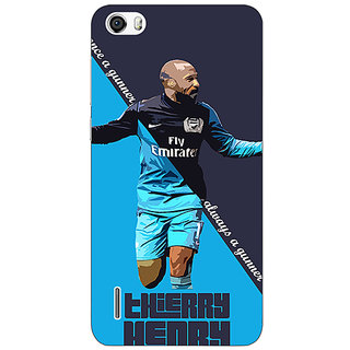 Jugaaduu Arsenal Therry Henry Back Cover Case For Huawei Honor 6 - J860505
