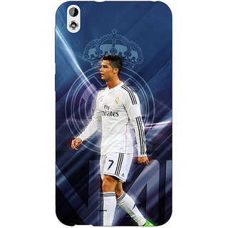 Jugaaduu Cristiano Ronaldo Real Madrid Back Cover Case For HTC Desire 816 Dual Sim - J1060317