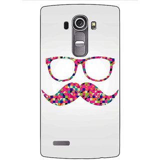 Jugaaduu Mustache Back Cover Case For LG G4 - J1100751