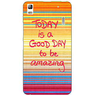 Jugaaduu Good Day Pattern Back Cover Case For Lenovo K3 Note - J1120232