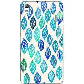 Jugaaduu Blue Leaves Pattern Back Cover Case For Lenovo K3 Note - J1120254