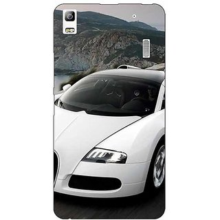 Jugaaduu Super Car Bugatti Back Cover Case For Lenovo K3 Note - J1120628
