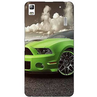 Jugaaduu Super Car Mustang Back Cover Case For Lenovo K3 Note - J1120635
