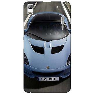Jugaaduu Super Car Lotus Back Cover Case For Lenovo K3 Note - J1120644