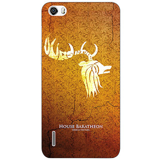Jugaaduu Game Of Thrones GOT House Baratheon  Back Cover Case For Huawei Honor 6 - J860171