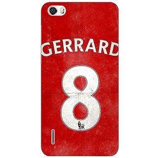 Jugaaduu Liverpool Gerrard Back Cover Case For Huawei Honor 6 - J860546