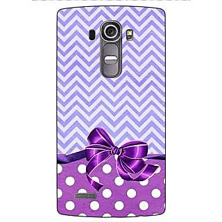 Jugaaduu Cute Bow Back Cover Case For LG G4 - J1100785