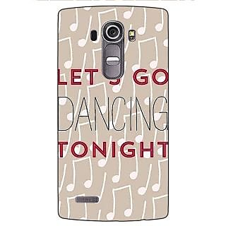 Jugaaduu Dancing Quote Back Cover Case For LG G4 - J1100818