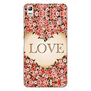 Jugaaduu Love Floral Back Cover Case For Lenovo K3 Note - J1121419