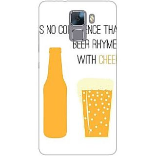 Jugaaduu Beer Quote Back Cover Case For Huawei Honor 7 - J871204