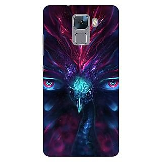 Jugaaduu Paisley Beautiful Peacock Back Cover Case For Huawei Honor 7 - J871594