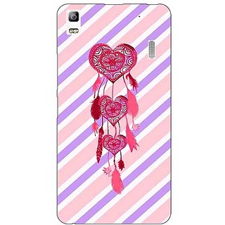 Jugaaduu Heart Dream Catcher Back Cover Case For Lenovo K3 Note - J1120704