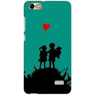 Jugaaduu Cute Couple  Back Cover Case For Huawei Honor 4C - J850724