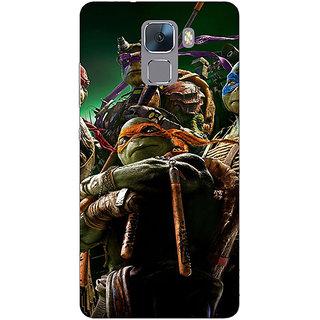 Jugaaduu Ninja Turtles Back Cover Case For Huawei Honor 7 - J870888