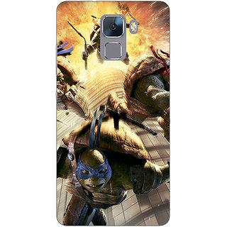 Jugaaduu Ninja Turtles Back Cover Case For Huawei Honor 7 - J870889