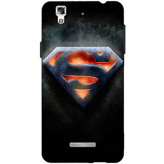 Jugaaduu Superheroes Superman Back Cover Case For Micromax Yu Yureka - J880386