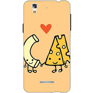 Jugaaduu Cheese Donut Love Back Cover Case For Micromax Yu Yureka - J881133