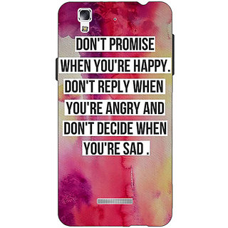 Jugaaduu Wise Quote Back Cover Case For Micromax Yu Yureka - J881144