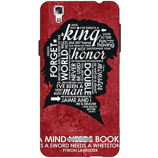 Jugaaduu Game Of Thrones GOT House Lannister Tyrion Back Cover Case For Micromax Yu Yureka - J881557