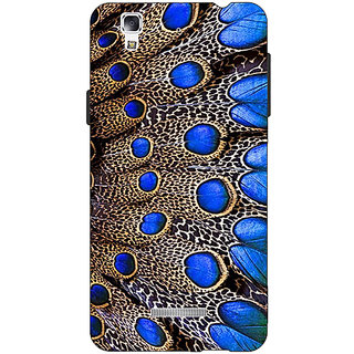 Jugaaduu Paisley Beautiful Peacock Back Cover Case For Micromax Yu Yureka - J881577